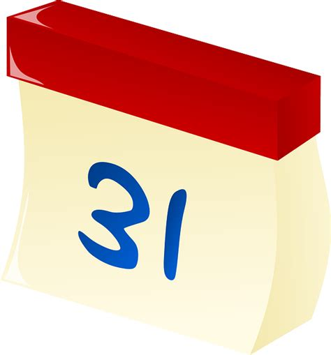 Tear  Calendar Date  Vector Graphic  Pixabay