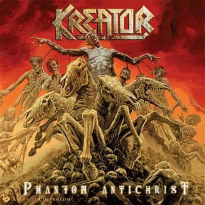 Kreator Antichrist Album Phantom Animated Metal Creepy