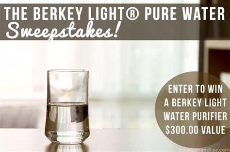 berkey light pure water sweepstakes berkey pure water pure products