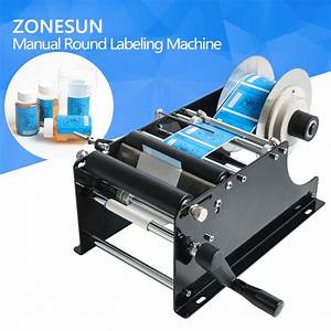Zonesun Manual Round Labeling Machine With Handle Manual