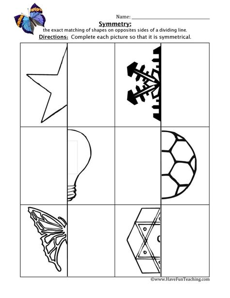 pin  lisa ribone  maths symmetry worksheets