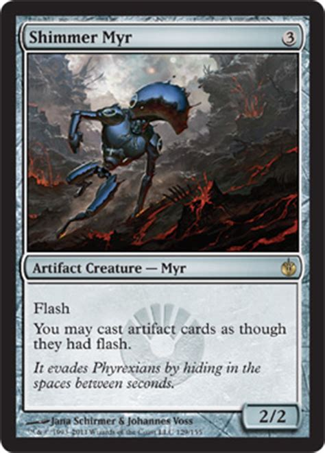 myr superion deck mtg mbs from cantrip rot wolf shimmer myr kuldotha