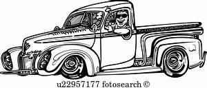 pickup clip art vector graphics 2785 pickup eps clipart With 1953 ford hot rod