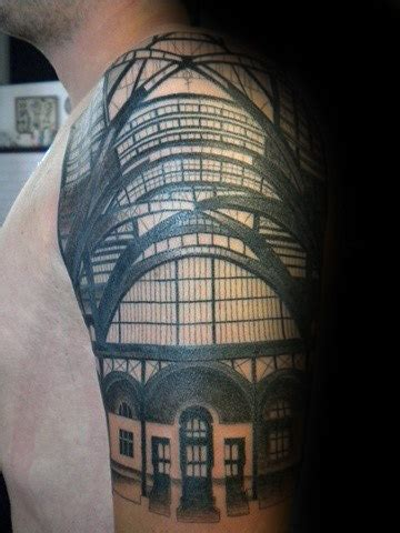 building tattoos  men architecture ink design ideas