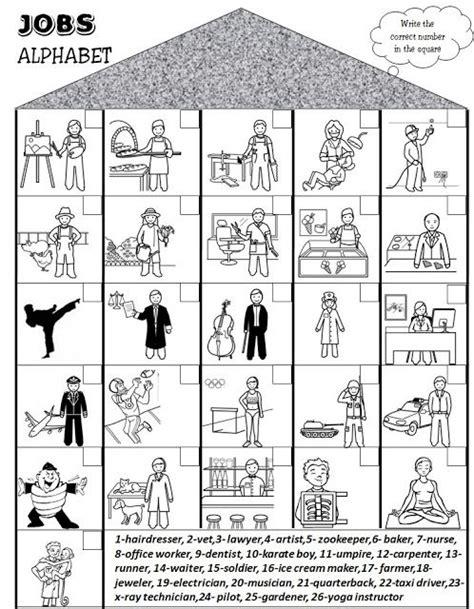 enjoy teaching english jobsprofessions worksheet