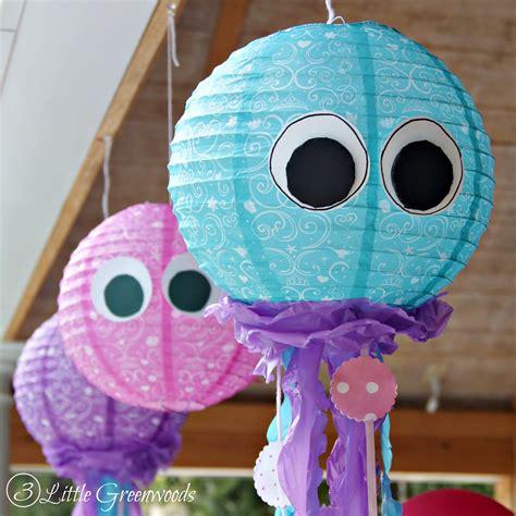 simple paper lantern jellyfish    mermaid