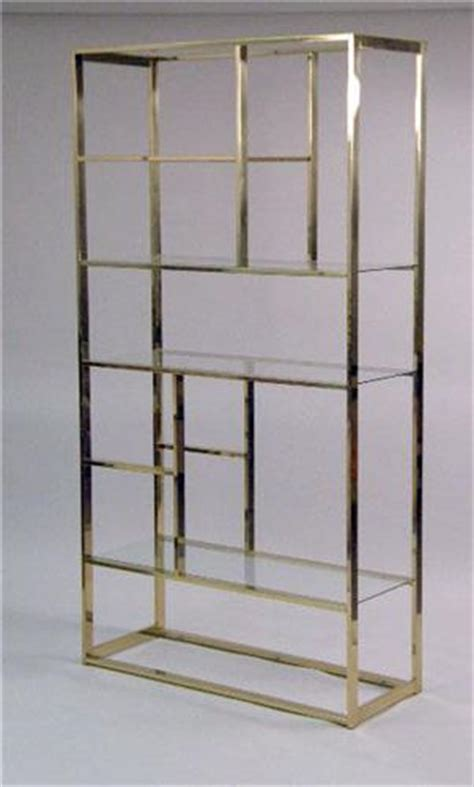 Contemporary Etagere by A Contemporary Brass And Glass Etagere