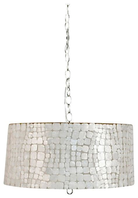 Capiz Drum Chandelier by Capiz Shell Drum Pendant Croc Small Pendant Chandelier