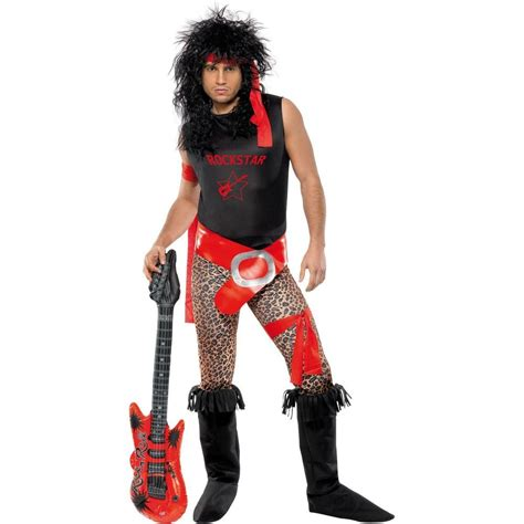 80s Super Rock Star Halloween Costume Mens XL 40-44 Rocker Outfit Heavy Metal #Unbranded # ...