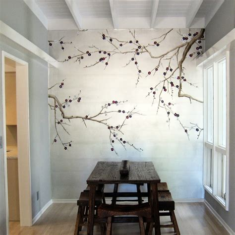 decorative elements utilizing painted wall murals for your