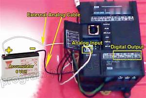 Battery Level Indicator Using Plc With Analog Input Plc