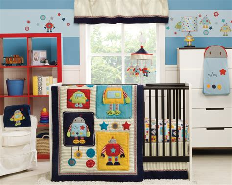 Kidsline Robots Play Crib Bedding Collection