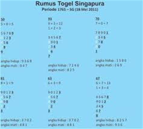 angka main besok togel singapura