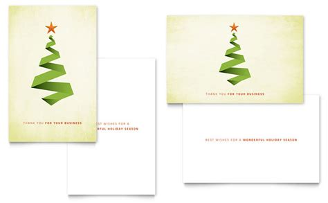 greeting card template adobe illustrator ribbon tree greeting card template design