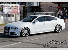White Audi A5 Sportback on Vossen wheels A5 sportback