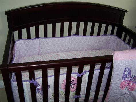 butterfly crib bedding set up of crib and the tiddliwinks butterfly medallion