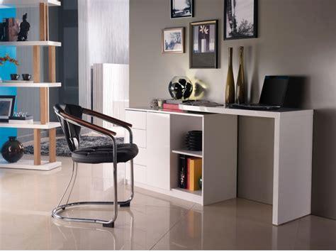 bureau blanc laqué pas cher bureau vente unique bureau extensible pavel mdf laqué