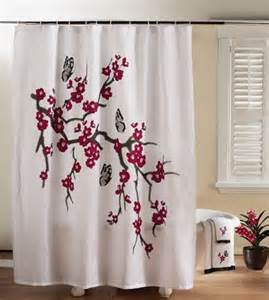 Cherry Blossom Curtain Material by Cherry Blossom Shower Curtain Cherry Blossom