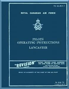 A  V  Roe Avro Lancaster Aircraft Pilots Operating Instructions Manual Rcaf 05