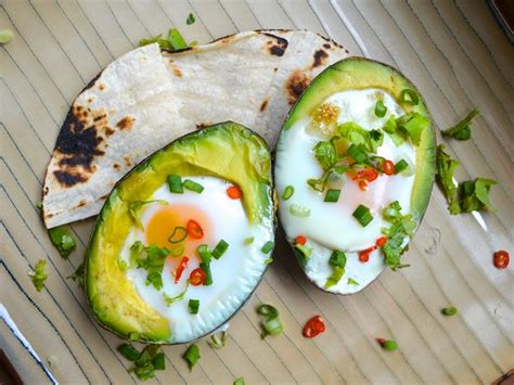 eggs baked  avocado recipe  eats