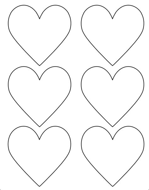 14 Printable Heart Templates To Download For Free Sample