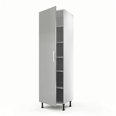 colonne cuisine 50 cm largeur meuble de cuisine colonne gris 1 porte délice h 200 x l 60 x p 56 cm leroy merlin