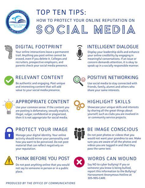 top ten social media tips homestead shs