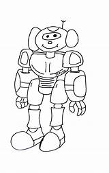 Coloring Robots Pages Children sketch template