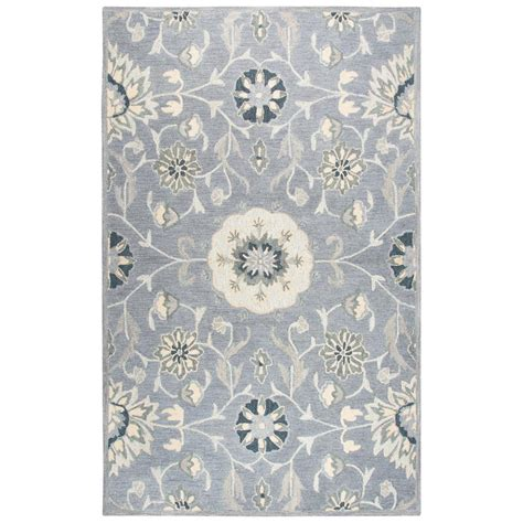 rugs for kitchen floors rizzy home resonant gray 9 ft x 12 ft area rug 4951