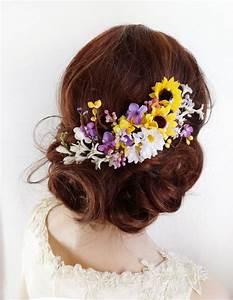 Sunflower Hair Clip Bridal Hair Clip Sunflower Wedding