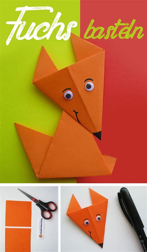 origami fuchs anleitung origami fuchs falten kindergeburtstag deko und basteln
