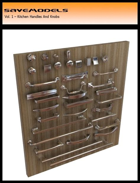 Kitchen Handles 3d Model by Handles Model 3d Model Free 3d Models