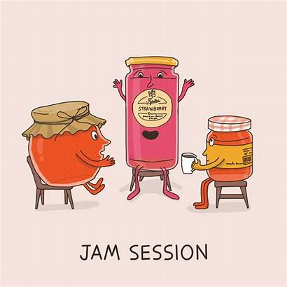 Idioms Jam Literal Meanings Funny Session Illustrations