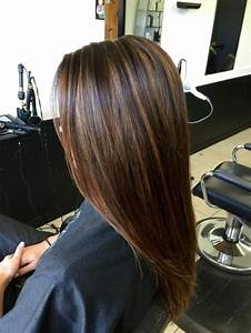 dark brown hair with caramel highlights before and after ...