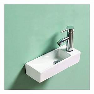 Lave Main Rectangulaire : lave main rectangulaire gain de place droite c ramique ~ Premium-room.com Idées de Décoration