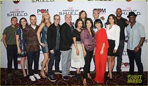 Chloe Bennet Reunites with 'Agents Of S H I E L D' Cast At Season 3 Premiere Watch Opening