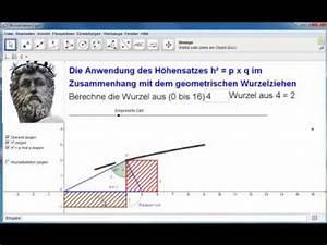 Wurzel Berechnen Ohne Taschenrechner : geogebra die wurzel und der h hensatz youtube ~ Themetempest.com Abrechnung
