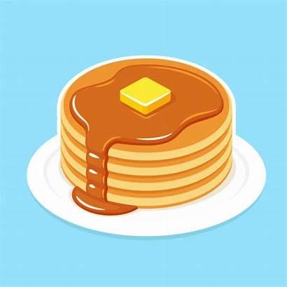 Pancake Breakfast Pancakes Clip Het Illustratie Illustrazione