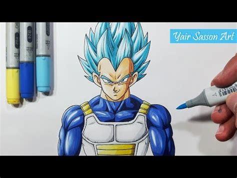 draw vegeta super saiyan blue step  step