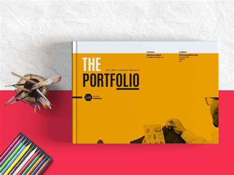 My Portfolio  Landscape Template For Designers  Adobe