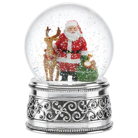 wedding present registry reed and barton santa and reindeer globe reed and
