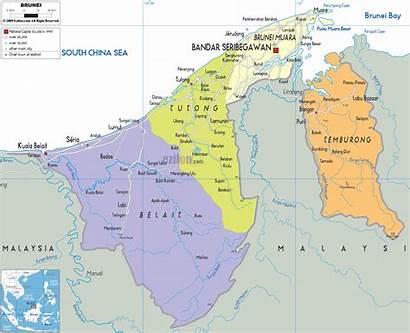Brunei Map Mapa Political Asia Maps Ezilon