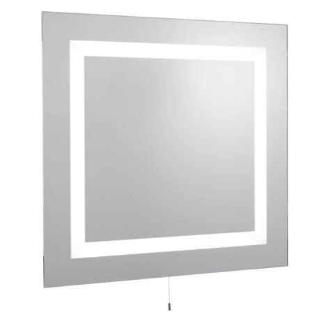 Bathroom Wall Mounted Mirrors by Searchlight Electric 8510 Glass Illuminated Bathroom