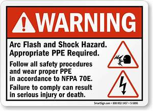 Arc flash signs mysafetysigncom for Arc flash sign