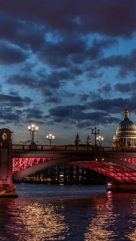 wallpaper london river thames st paul cathedral water