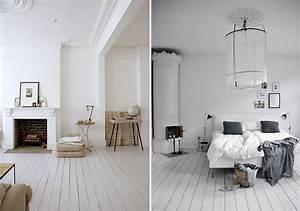 Comment peindre un parquet en blanc ou en couleur joli place for Idee deco cuisine avec meuble salle a manger chene blanchi