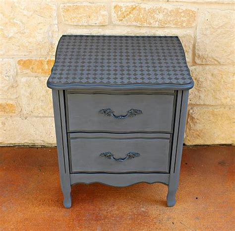 harlequin tone  tone stenciled nightstand project