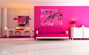 Ideas Pink Living Room Paint And Furniture Colors