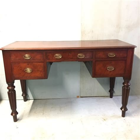 5 Drawer Desk - mahogany writing desk 5 drawer c 1850 wil la76958