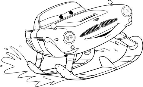 Cars Kleurplaat Finn by Coloriage Cars Finn Mcmissile 224 Imprimer Sur Coloriages Info